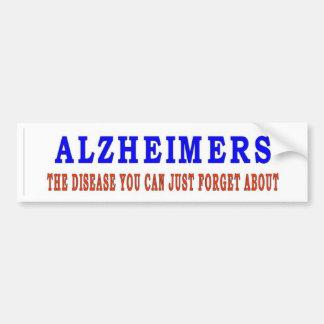 ALZHEIMERS BUMPER STICKER