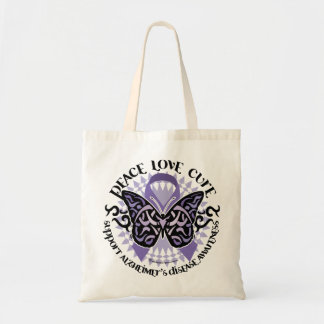 Alzheimers Butterfly Tribal 2 Tote Bag