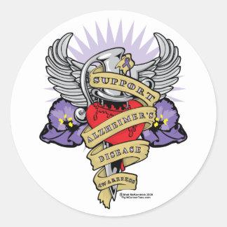 Alzheimer's Dagger Classic Round Sticker