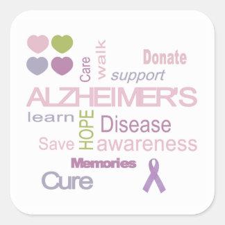 Alzheimer's Disease Awareness Sticker