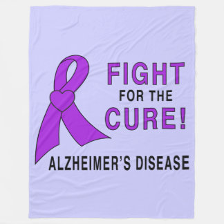 Alzheimer's Disease Fight for the Cure! Fleece Blanket