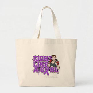 Alzheimers Disease Fighter - Fights Like a Girl Canvas Bag
