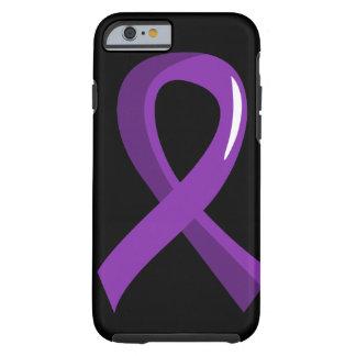 Alzheimer's Disease Purple Ribbon 3 Tough iPhone 6 Case