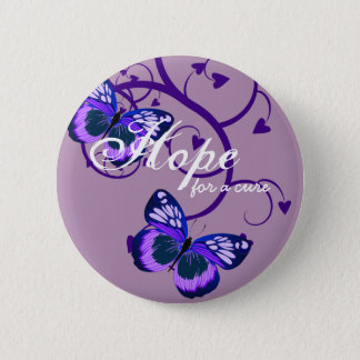 Alzheimer's Hope for Cure 6 Cm Round Badge