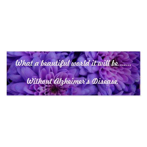 Alzheimer's Support Bookmark Business Card Templates