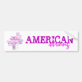 Am3rica Strong Sticker Bumper Sticker
