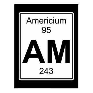 Am - Americium Postcard