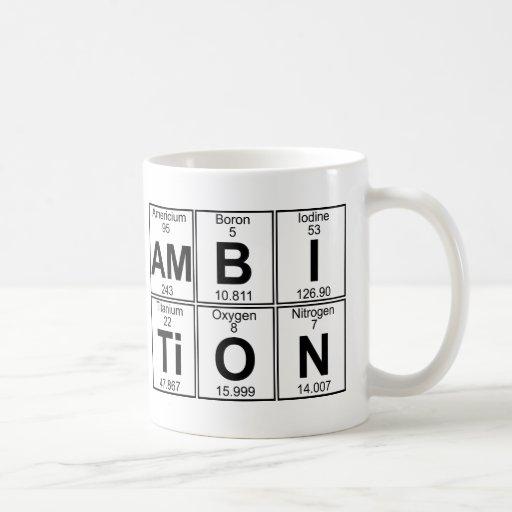 Am-B-I-Ti-O-N (ambition) - Full Coffee Mug
