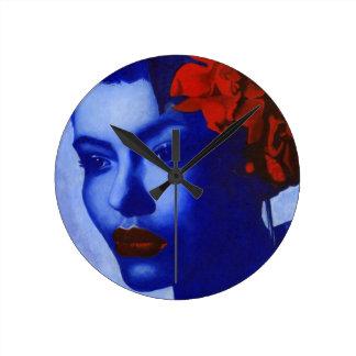 Am I Blue Round Clock