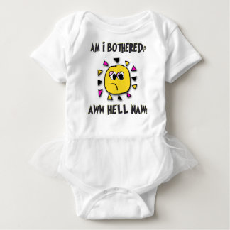 Am i bothered aww hell naw-dark2 baby bodysuit