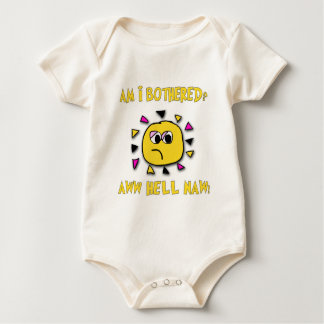 Am i bothered aww hell naw-dark baby bodysuit