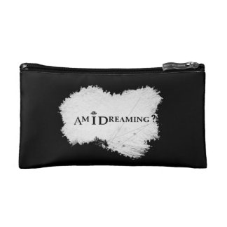 Am I Dreaming? Cosmetic Bag Black