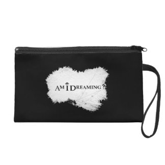 Am I Dreaming? Wristlet Black
