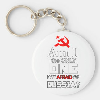 Am I the Only One Not Afraid of Russia? Basic Round Button Key Ring