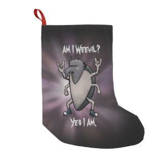Am I Weevil Heavy Metal Small Christmas Stocking