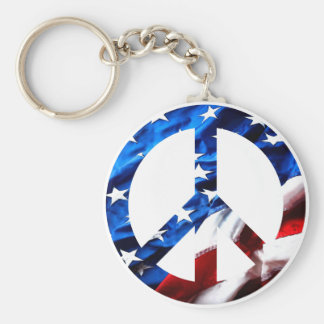 am peace basic round button key ring