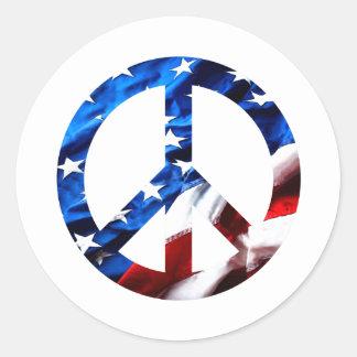 am peace round sticker