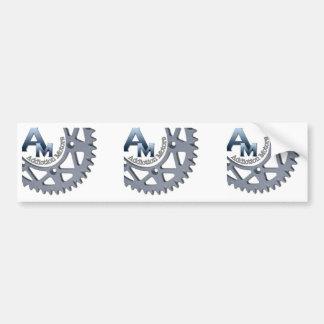 AM Square Sticker Bumper Stickers