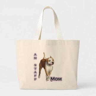 Am Staff Mom 4 Large Tote Bag
