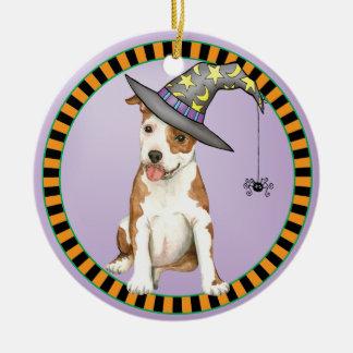 Am Staff Witch Ceramic Ornament