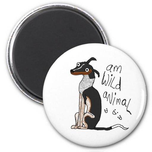 Am Wild Animal 6 Cm Round Magnet
