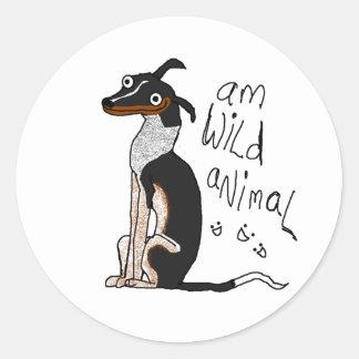 Am Wild Animal Round Sticker