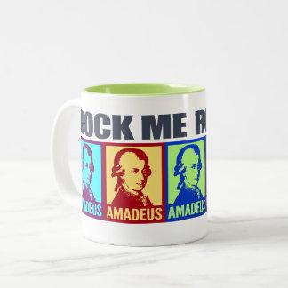 Amadeus Mozart | Rock Me Colorful Pop Art Two-Tone Coffee Mug