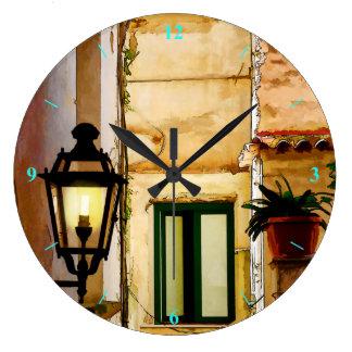 Amalfi backstreets large clock