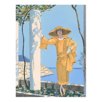 Amalfi by George Barbier Postcard
