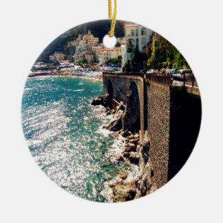 Amalfi Coast Ceramic Ornament