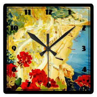 Amalfi Coast, Italy Square Wall Clock