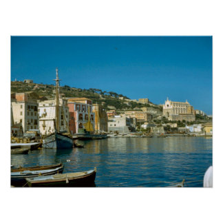 Amalfi coast, Salerno waterfront Poster