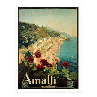 Amalfi Italia Italy Vintage Postcard