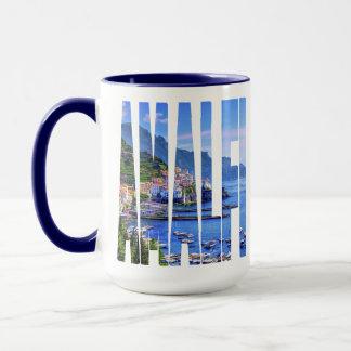 Amalfi Italy Europe Colorful Photo Typography Mug