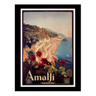 Amalfi Italy Vintage Travel Poster Post Cards