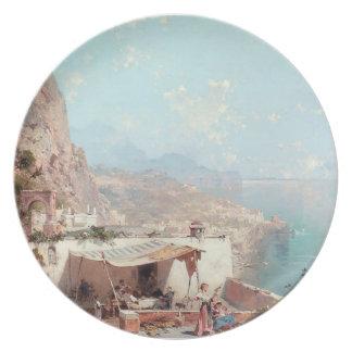 Amalfi, The Gulf Of Salerno by Franz Unterberger Plates