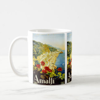 """Amalfi"" Vintage Travel Poster Mug"