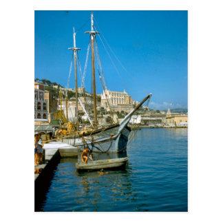 Amalfi, waterfront with fishing boat postcard