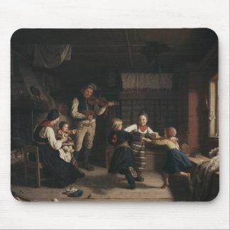 Amalia Lindegren - Sunday Evening in a Farmhouse i Mouse Pad
