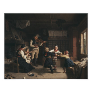 Amalia Lindegren - Sunday Evening in a Farmhouse i Photo Print