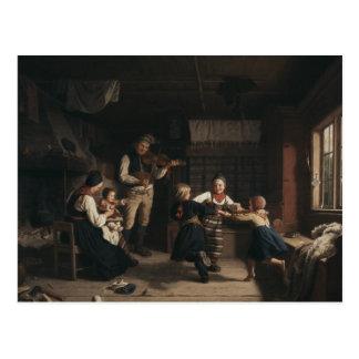 Amalia Lindegren - Sunday Evening in a Farmhouse i Postcard