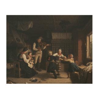 Amalia Lindegren - Sunday Evening in a Farmhouse i Wood Print