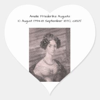 Amalie Friederike Augusta c1825 Heart Sticker