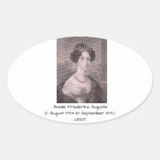 Amalie Friederike Augusta c1825 Oval Sticker
