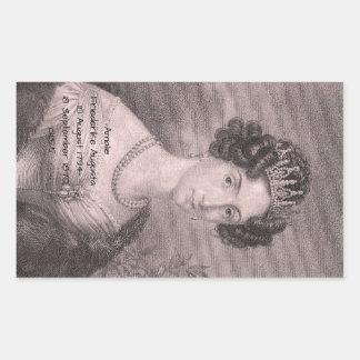 Amalie Friederike Augusta c1825 Rectangular Sticker