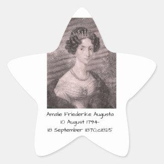 Amalie Friederike Augusta c1825 Star Sticker