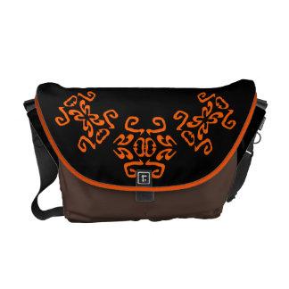 Amanda Black & White Scrolls Classy Commuter Bag
