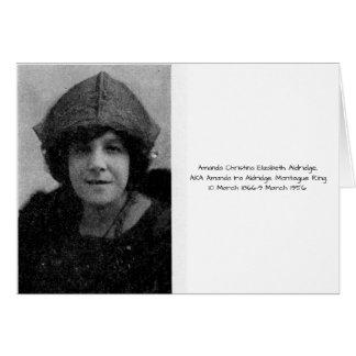 Amanda Christina Elizabeth Aldridge Card