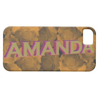 Amanda in  3D gold over peach chroma rose blooms iPhone 5 Cases