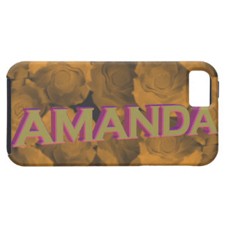 Amanda in  3D gold over peach chroma rose blooms iPhone 5 Cover